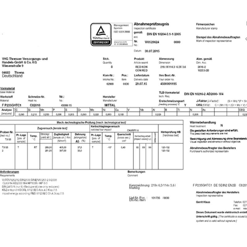 En 10204 3 1 Certificate Template Page 1 Line 17qq Com 2